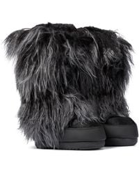 Moon Boot Classic Night Shearling Snow Boots - Black