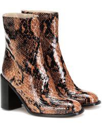 Maryam Nassir Zadeh Ankle Boots Mars aus Leder - Braun