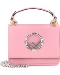 Fendi - Exclusive To Mytheresa. Com – Kan I F Mini Leather Shoulder Bag - Lyst