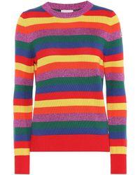 Moncler Pullover a righe in cotone - Multicolore
