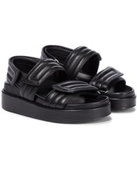 Dries Van Noten Leather Slingback Sandals - Black