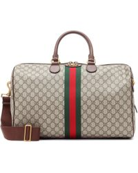 Gucci Ophidia Gg Supreme Logo Weekend Bag - Multicolour