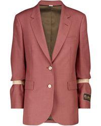 Gucci Einreihiger Blazer - Rot