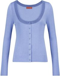 Altuzarra Vicki Wool And Silk Cardigan - Blue