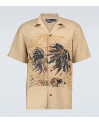 Polo Ralph Lauren Exklusiv bei Mytheresa – Kurzarmhemd aus einem Leinengemisch - Natur