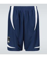 Balenciaga Technical Fabric Soccer Shorts - Blue