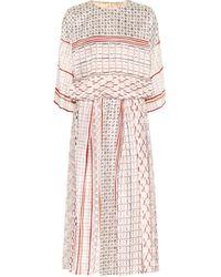 Agnona Printed Midi Dress - Pink