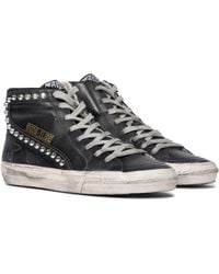 Golden Goose Deluxe Brand Slide Classic Leather Trainers - Black
