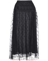 Valentino - Embellished Chiffon Skirt - Lyst