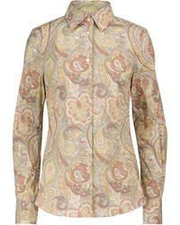 Etro Chemise en coton à motif cachemire - Neutre