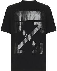 Off-White c/o Virgil Abloh Printed Cotton T-shirt - Black