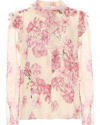 Giambattista Valli Floral-printed Silk Top - White