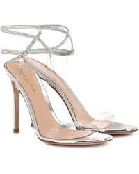 Gianvito Rossi Exclusive To Mytheresa – Embellished Pvc Sandals - Metallic