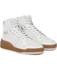 Saint Laurent Baskets SL24 en cuir - Blanc
