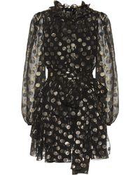 Dolce & Gabbana - Minikleid aus Seide - Lyst