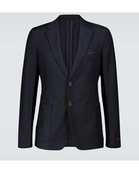 Prada Blazer aus Wolle und Mohair - Blau