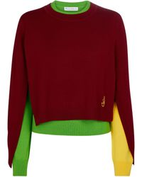 JW Anderson Pullover aus Wolle - Rot