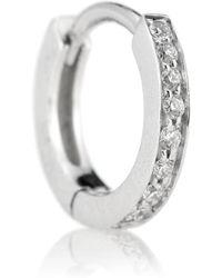 Repossi Berbere White Gold Single Earring With Diamonds - Metallic