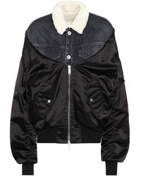Unravel Project Faux Fur-trimmed Jacket - Black