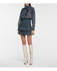 Étoile Isabel Marant Naomi Floral Cotton Miniskirt - Green
