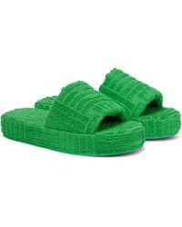 Bottega Veneta Sponge Slides - Green