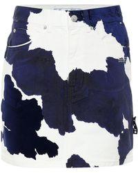 Off-White c/o Virgil Abloh Minigonna di jeans a stampa - Blu