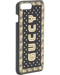 Gucci - Guccy Iphone 7 Plus Leather Case - Lyst