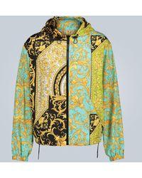 Versace Chaqueta Barocco con capucha - Multicolor