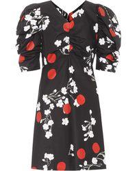 Isa Arfen - Bedrucktes Kleid Obliterated Blossom aus Baumwolle - Lyst