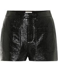 Saint Laurent Shorts aus beschichtetem Tweed - Schwarz