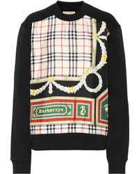 Burberry - Archive Scarf Cotton And Silk Sweatshirt - Lyst