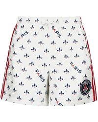 Nike Jordan Paris Saint-germain Printed Shorts - White