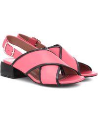 Marni Sandalen aus Leder - Pink