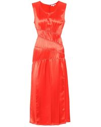 Helmut Lang Abito in satin - Rosso