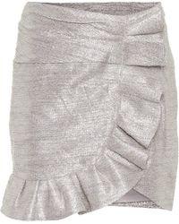 Jonathan Simkhai Mini-jupe en jacquard métallisé