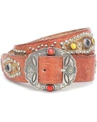 Golden Goose Deluxe Brand Texas Rodeo Embellished Leather Belt - Multicolour