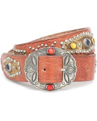 Golden Goose Deluxe Brand Texas Rodeo Embellished Leather Belt - Multicolor