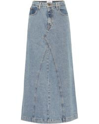 Nanushka Falda Mae de jeans - Azul