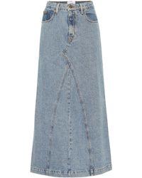 Nanushka Mae Denim Skirt - Blue