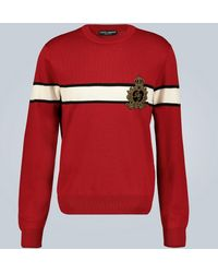 Dolce & Gabbana Pullover aus Wolle - Rot