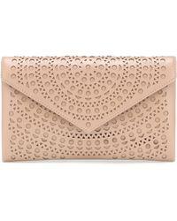 Alaïa Oum Envelope Leather Clutch - Multicolor