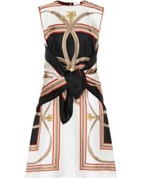 Burberry Archive Scarf Silk Minidress - Black