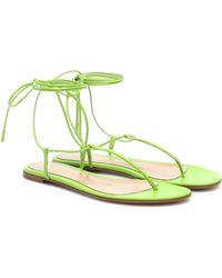 Gianvito Rossi Gwyneth Leather Sandals - Green