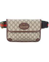 Gucci Leather-trimmed Belt Bag - Brown