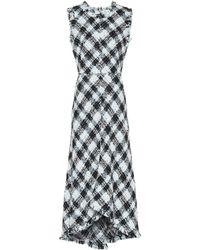 Alexander McQueen Tweed Dress - Blue