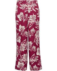 Dorothee Schumacher Structured Florals High-rise Straight Trousers