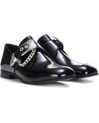 McQ Embellished Leather Monk Shoes - Black