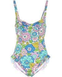 Dodo Bar Or Floral Swimsuit - Blue