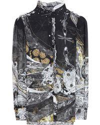 Roberto Cavalli Printbluse aus Seide - Mehrfarbig