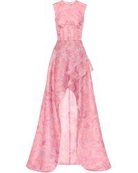 Costarellos Printed Silk-blend Dress - Pink